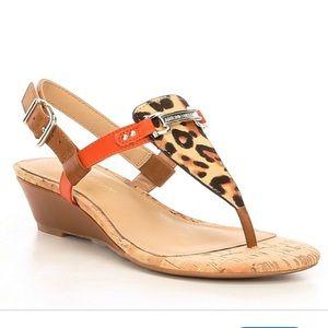 Antonio Melani Amirah Leopard Print Sandals 6 $80!